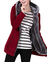 cheap -Women's Basic Hoodie Jacket - Solid Colored / Winter