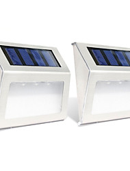 cheap -2pcs 0.3W Wall Light Solar Light Control Outdoor Lighting Warm White Cold White DC1.2V