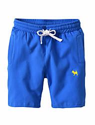 abordables -Géométrique Imprimé Fille de Quotidien Sports Coton Rayonne Eté Robe Actif Basique Bleu Jaune Bleu clair Bleu royal