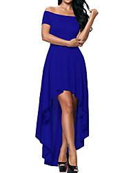 povoljno -Žene Jednostavan Korice Swing kroj Haljina Jednobojni Do koljena