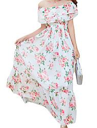 cheap -Women's Boho Sheath Dress - Floral