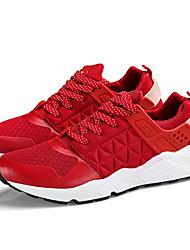 economico -Per uomo Scarpe Maglia traspirante Finta pelle Primavera Autunno Comoda scarpe da ginnastica Corsa per Sportivo Nero Rosso