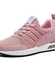 economico -Per donna Scarpe A maglia Primavera / Estate Comoda Sneakers Piatto Grigio / Verde / Rosa