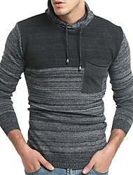 cheap -Men's Basic Pullover - Color Block, Patchwork
