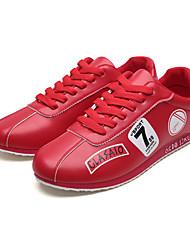 お買い得  -男性用 靴 レザーレット 春 夏 アイデア スニーカー アイレット のために カジュアル アウトドア ホワイト ブラック レッド