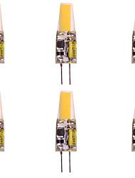 preiswerte -WeiXuan 6pcs 2W 160lm lm G4 LED Doppel-Pin Leuchten T 1pcs Leds COB Warmes Weiß Kühles Weiß 12V