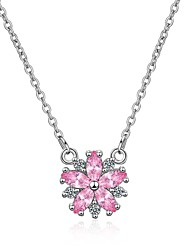 cheap -Women's Cubic Zirconia Pendant Necklace  -  Zircon Flower Korean, Fashion Rainbow 45 cm Necklace For Gift, Evening Party