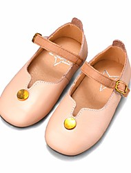 povoljno -Djevojčice Cipele Koža Proljeće Jesen Cipele za bebe Ravne cipele za Kauzalni Crn Bež Pink