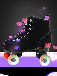 cheap -Adults' Flashing Roller Skates Well-ventilated Wheels Light up Durable Black / Yellow