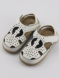 cheap -Boys' / Girls' Shoes Cowhide Summer Comfort / First Walkers Sandals for White / Black / Pink