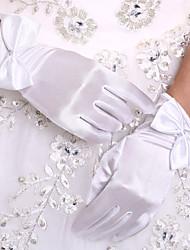 Недорогие -Стретч-сатин До запястья Перчатка Свадебные перчатки With Рукав-бабочка