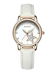 baratos -Mulheres Relógio de Moda Japanês Relógio Casual Couro Legitimo Banda Fashion Preta / Branco / Vermelho