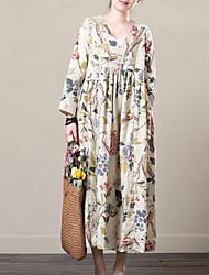 povoljno -Žene Ulični šik Swing kroj Haljina Cvjetni print Midi