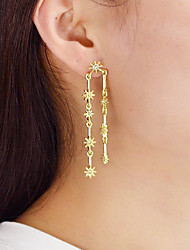 cheap -Mismatched Drop Earrings - Flower Gold For Daily / Date