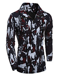 cheap -Men's Sports Basic / Street chic Cotton Jacket - Camouflage Stand / Long Sleeve / Double Breasted