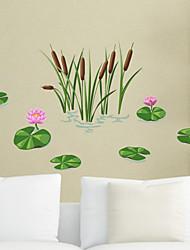 povoljno -Dekorativne zidne naljepnice - Zidne naljepnice Cvjetni / Botanički Stambeni prostor Spavaća soba Kupaonica Kuhinja Trpezarija Study Room