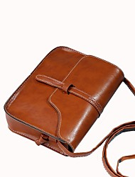 cheap -Women's Bags Shoulder Bag Buttons for Office & Career Brown / Dark Brown / Wine