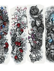 Недорогие -Стикер / Стикер татуировки рука Временные татуировки 4 pcs Мультипликационные серии Искусство тела