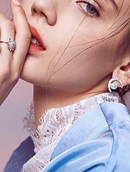 cheap -Women's Moon Imitation Pearl Drop Earrings - Casual / Fashion Silver Earrings For Daily / Date