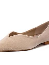povoljno -Žene Cipele PU Proljeće Jesen Udobne cipele Ravne cipele Ravna potpetica za Kauzalni Plava Pink Badem