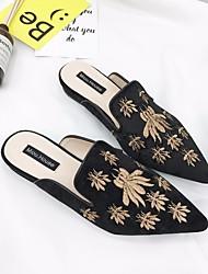 Недорогие -Жен. Обувь Кожа Весна Осень Удобная обувь Башмаки и босоножки На низком каблуке для Золотой Черный