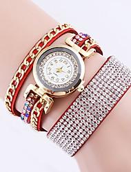 Недорогие -Жен. Повседневные часы / Модные часы / Часы-браслет Китайский Повседневные часы / Имитация Алмазный PU Группа На каждый день / Мода Черный / Красный / Розовый / Один год