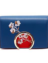baratos -Mulheres Bolsas PU Leather Bolsa de Ombro Estampa para Compras Azul / Verde