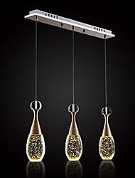 abordables -3 lumières Grappe Lampe suspendue Lumière dirigée vers le bas - Cristal, Style mini, 110-120V / 220-240V Source lumineuse de LED incluse
