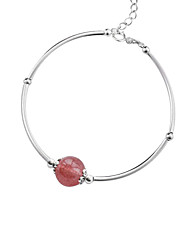 cheap -Women's Crystal Link Bracelet - Crystal, S925 Sterling Silver Ball, Strawberry Korean, Sweet Bracelet Silver For Gift / Daily