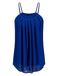 preiswerte -Damen Solide-Grundlegend Bluse Gefaltet