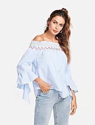 baratos -Mulheres Camisa Social Fofo Activo Listrado