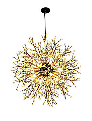 cheap -Modern Globe Chandeliers Firework Led Vintage Wrought Iron Pendant Lights Living Room Dining Room G4 Bulb Base