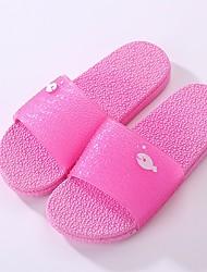 povoljno -Žene Cipele Eko koža Ljeto Udobne cipele Papuče i japanke Ravna potpetica za Kauzalni Crvena Fuksija Watermelon