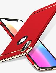 baratos -Capinha Para Apple iPhone X iPhone 8 Antichoque Galvanizado Capa traseira Sólido Rígida PC para iPhone X iPhone 8 Plus iPhone 8 iPhone 7
