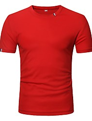cheap -Men's Vintage / Street chic T-shirt - Solid Colored