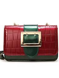 preiswerte -Damen Taschen PU Umhängetasche Reißverschluss für Normal Rosa / Gelb / Braun