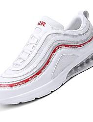 お買い得  -男性用 靴 チュール ネット 夏 ライト付きソール コンフォートシューズ スニーカー ウォーキング ランニング のために カジュアル アウトドア ホワイト ブラック グレー