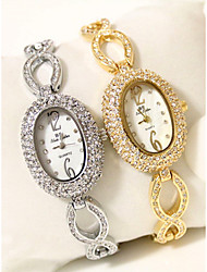 baratos -Mulheres Bracele Relógio Japanês Cronógrafo / imitação de diamante Lega Banda Brilhante / Rígida Prata / Dourada / Dois anos / Sony SR626SW + CR2025