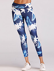 cheap -Women's Sporty Legging - Floral High Waist