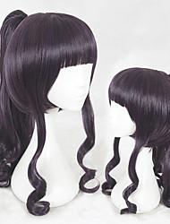 Недорогие -Парики из искусственных волос Кудрявый Стрижка каскад Природные волосы Фиолетовый Жен. Без шапочки-основы Парики для косплей Средняя длина