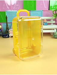 economico -Quadrata Plastica Porta-bomboniera con A quadri Bomboniere scatole