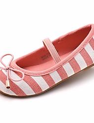 preiswerte -Mädchen Schuhe Leinwand Frühling / Herbst Komfort Flache Schuhe für Blau / Rosa