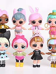 cheap -Tronzo 8Pcs/Bag Kawaii Boneca Animals Action Figure People Lovely Princess Plastic Shell Adults' Boys' Girls' Toy Gift 8 pcs