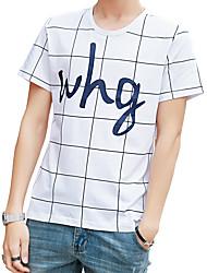 preiswerte -Herrn Solide Gestreift Buchstabe - Street Schick T-shirt Druck