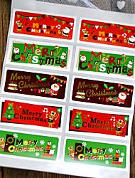 baratos -Férias Etiquetas, Etiquetas e tags - 10pcs Natal Retângular Autocolantes Todas as Estações