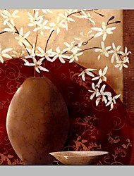 cheap -Oil Painting Hand Painted - Still Life Floral / Botanical Traditional Canvas