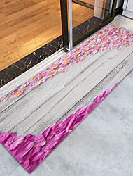 cheap -Creative Country Traditional Doormats Area Rugs Bath Mats Flannelette, Superior Quality Rectangle Striped Floral Lines / Waves Rug