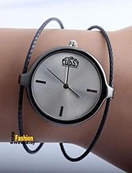 abordables -Mujer Pareja Cuarzo Reloj de Moda Reloj Casual Chino Reloj Casual Aleación Banda Casual Moda Plata
