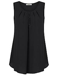 abordables -Mujer Básico Estampado Camisa Un Color