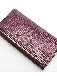 preiswerte -Damen Taschen Leder Unterarmtasche Reißverschluss für Normal Gold / Rote / Purpur